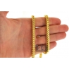 Italian 14K Yellow Gold Hollow Franco Link Mens Chain 5.5 mm