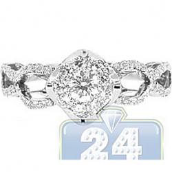 14K White Gold 0.55 ct Diamond Openwork Engagement Ring