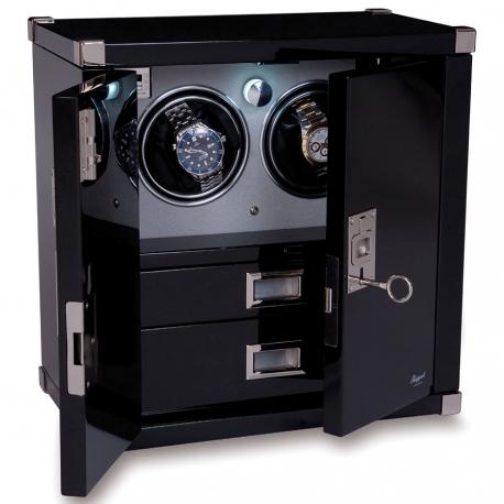 Double Watch Winder Cabinet W292 Rapport Optima Captian's Ebony