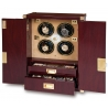 Quad Watch Winder Cabinet W284 Rapport Optima Captian's Mahogany