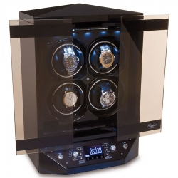 Quad Watch Winder Cabinet W300 Rapport Templa Ebony Wood