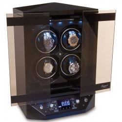 Rapport Templa Ebony Wood 4 Watch Winder Cabinet W300