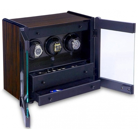 Triple Watch Winder Cabinet W70010 Orbita Avanti 3 Programmable