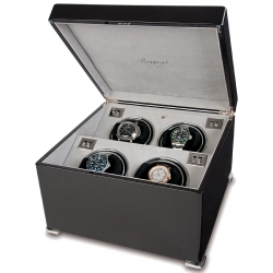 Rapport Perpetua II Ebony Quad Watch Winder Box W124