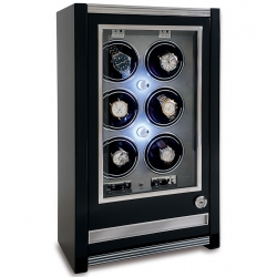 6 Automatic Watch Winder Cabinet W506 Rapport Paramount Ebony