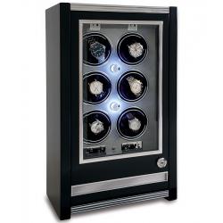 Rapport Paramount Ebony 6 Watch Winder Cabinet W506