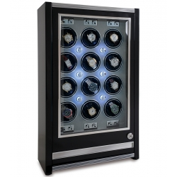 Rapport Paramount Ebony 12 Watch Winder Cabinet W512