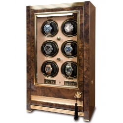 Rapport Paramount Walnut 6 Watch Winder Cabinet W526