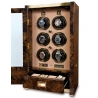 6 Watch Winder Cabinet W526 Rapport Paramount Walnut Wood