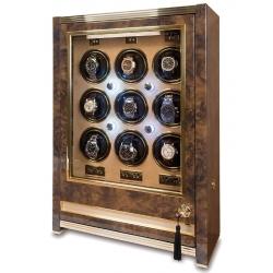 Rapport Paramount Walnut 9 Watch Winder Cabinet W529
