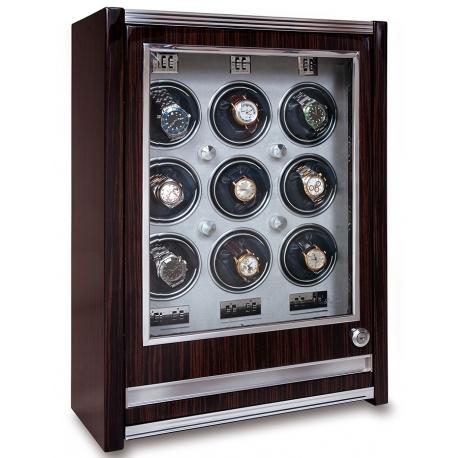Nine Watch Winder Cabinet W409 Rapport Paramount Macassar