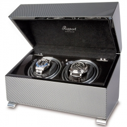 Double Watch Winder W372 Rapport Vogue Carbon Fiber
