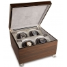 Quad Automatic Watch Winder Box W344 Rapport Vogue Macassar