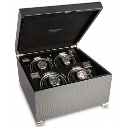 Quad Automatic Watch Winder Box W374 Rapport Vogue Carbon Fiber