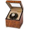 Rapport Optima Walnut Burl Single Watch Winder Box W231