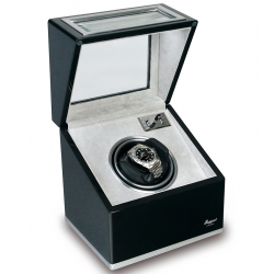 Rapport Optima Ebony Aluminum Single Watch Winder Box W261