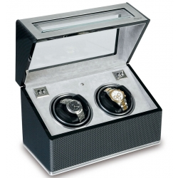 Rapport Optima F3 Carbon Fiber Double Automatic Watch Winder W252