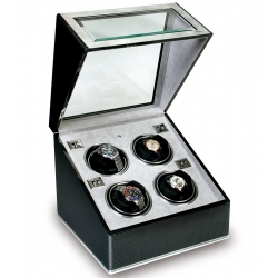 Rapport Optima F3 Carbon Fiber Quad Automatic Watch Winder W254