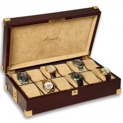 Rapport Captain's Mahogany Wood 12 Watch Box B267