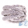 18K White Gold 2.53 ct Diamond Bamboo Womens Ring