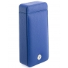 Single Watch Slipcase Travel Box D163 Rapport Blue Leather