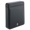 Double Watch Slipcase Travel Box D170 Rapport Black Leather