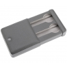 Double Watch Slipcase Travel Box D172 Rapport Gray Leather