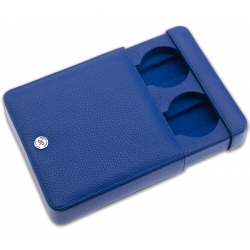 Rapport Blue Leather 2 Watch Travel Slipcase D173