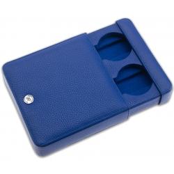 Rapport Blue Leather 2 Watch Travel Slipcase D173