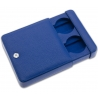 Double Watch Slipcase Travel Box D173 Rapport Blue Leather