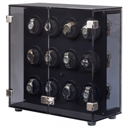 Orbita Milano 12 Rotorwind Watch Winder W60139 Carbon Fiber