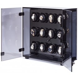 Orbita Milano Smoked Acrylic 12 Watch Winder W60146 Programmable