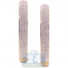 Womens Diamond Pave Round Hoop Earrings 14K Yellow Gold 7.83 ct