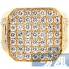 Mens Real Diamond Octagon Signet Ring 14K Yellow Gold 5.46ct