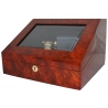Single Mechanical Watch Winder W31001 Orbita Sempre Burl Wood