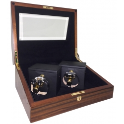 Double Mechanical Watch Winder W31005 Orbita Sempre Teak Wood
