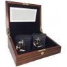 Double Mechanical Watch Winder W31005 Orbita Sempre Teak Wood