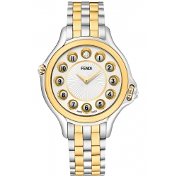 Fendi Crazy Carats Two Tone White Dial 38 mm Watch F107134000T06