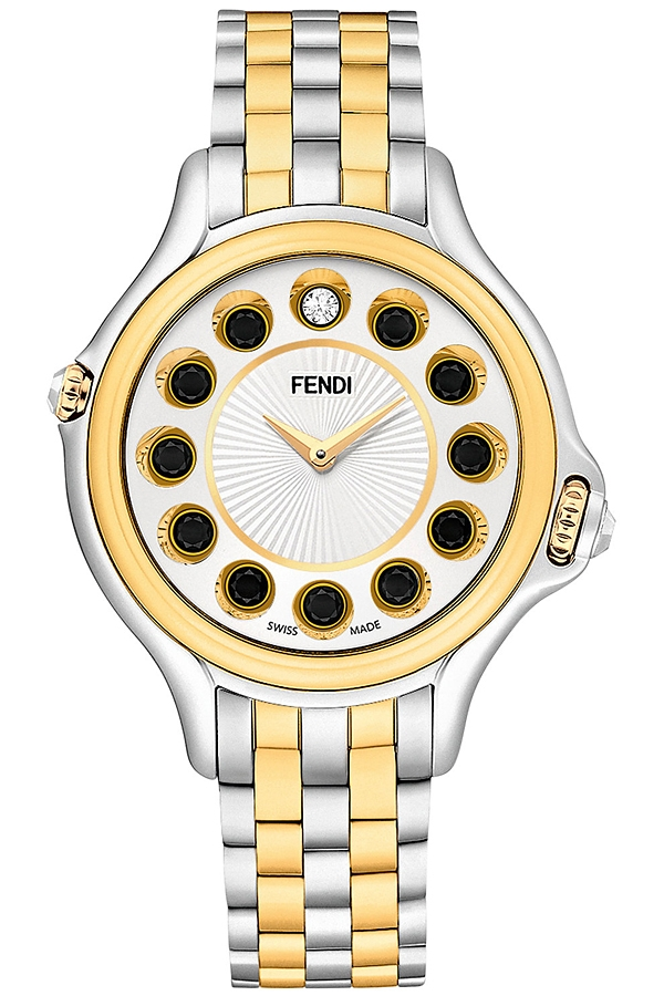 F107124000t06 Fendi Crazy Carats Watch Two Tone White Dial