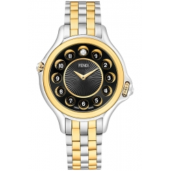 Fendi Crazy Carats Two Tone Black Dial 33 mm Watch F107121000T07