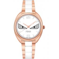F216534004D3 Fendi Momento Diamond Eye Bugs Womens Rose Watch