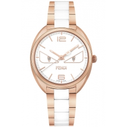 F216534104D1 Fendi Momento Bugs Womens Watch Rose Gold Ceramic