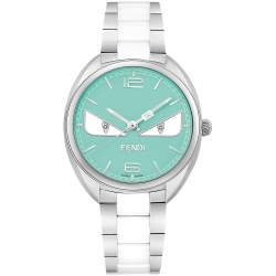F216033104D1 Fendi Momento Bugs Womens Watch Turquoise Dial