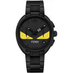 F215611600 Fendi Momento Bugs Eye Black Bracelet Mens Watch
