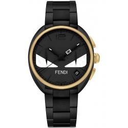 F215111400 Fendi Momento Bugs Eye Mens Watch Black Gold Tone