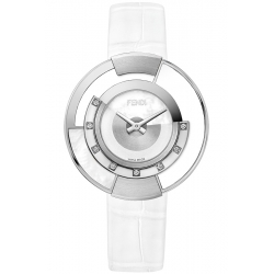 F500034541G0 Fendi Policromia Watch Pearl White Ceramic 38 mm