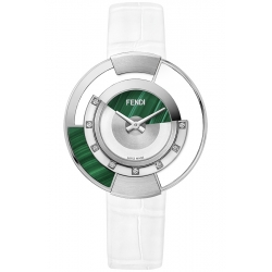 F500038541G0 Fendi Policromia Watch Malachite White Ceramic 38mm