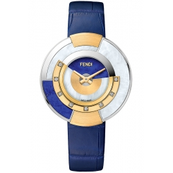 F511033531G0 Fendi Policromia Watch 18K Gold Lapis Lazuli 38mm