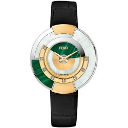 F511038511G0 Fendi Policromia Watch 18K Gold Malachite 38 mm