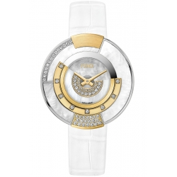 F511034541H2 Fendi Policromia Diamond Watch 18K Gold Pearl 38mm